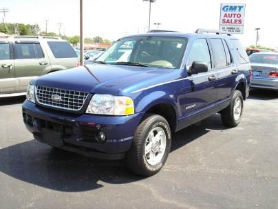 2005 Ford Explorer XLT SUV 4X4. Exterior Color: BLUE Interior Color: TAN