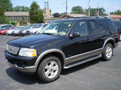2003 Ford Explorer Eddie Bauer SUV 4X4. Exterior Color: BLACK Interior